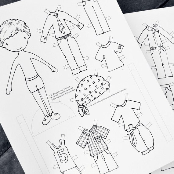 Print and Colour - Paper Doll for Boys (PDF)