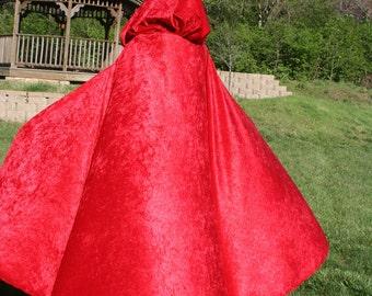 Cloak Cape   Red Velvet    SHORT