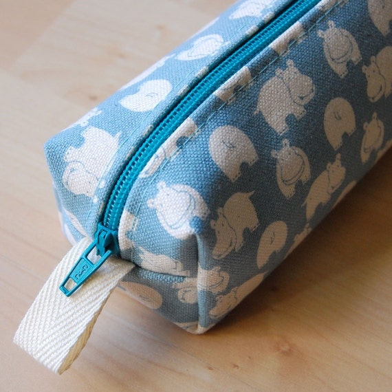 Free Shipping in July-Happy Hippos CA Roll (Pencil or Makeup Case)