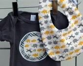 Yellow and Gray Safari Welcome Baby Gift Set