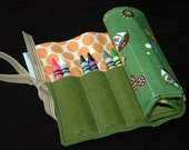 Peter Pan, Captain Hook, and Tinker Bell in Retro Green Crayon Roll