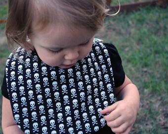 Skull and Crossbone Baby Bib