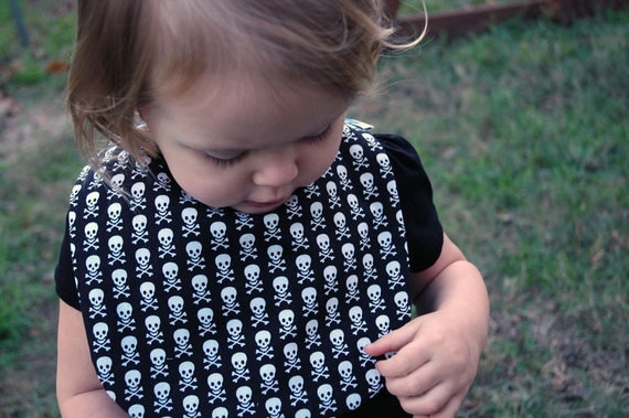 Skull and Crossbone Baby Bib