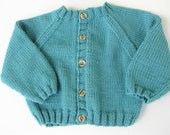 50% OFF - Hand Knit Baby Cardigan