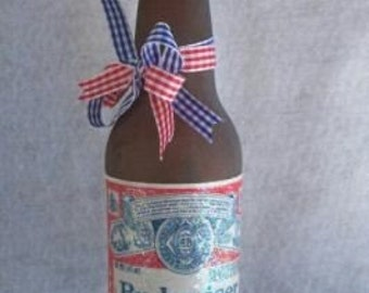This Bud is For You Budweiser Lighted Bottle Red White Blue