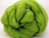 4 oz Corriedale Wool Top - Lime - Ships Free