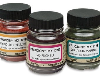 You Choose Six Jacquard Procion MX Dye 2/3 Oz. Jars - Free Shipping