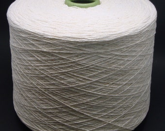 3 pound Cone 8/2 Cotton Yarn - Natural Undyed - Ships Free within the US