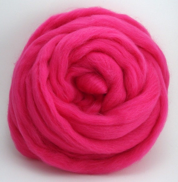 4 oz Corriedale Wool Top - Pansy - Ships Free