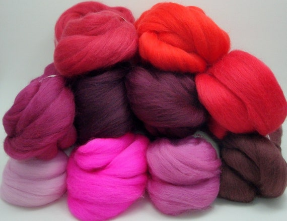 Merino Wool Color Pack - Reds