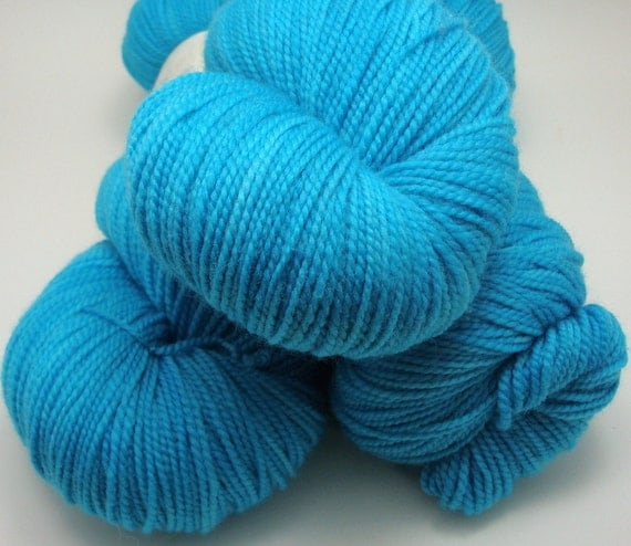 Hand-Dyed Super Sock Yarn - Turquoise Ring
