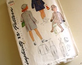 SALE :) simplicity vintage pattern 4899 girls coat, leggings and hat -- size 1