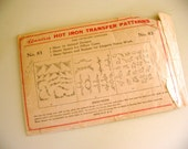 vintage walker's hot iron transfer patterns no. 83