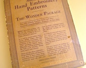 modern hand embroidery patterns -- the wonder package hot iron transfers from 1933
