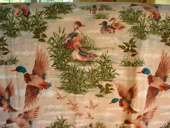 vintage home decor fabric vintage duck home decor fabric new almost 1 yard 11797