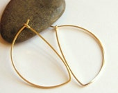 Avalon Hoops in 14K Gold Filled - Medium : Simple, Modern Jewelry.  Hoop Earrings - by kusu