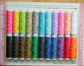 Set of Color Thread - 22 Colors - Each 50 m Long