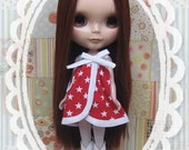 Red and white star sundress for Blythe