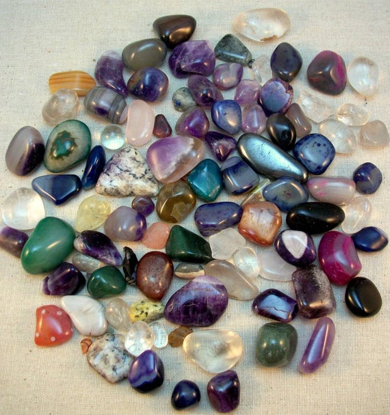 Mixed Lot of Polished Stones for Crafting and Jewelry