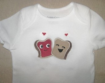 Peanut butter and Jelly Onesie
