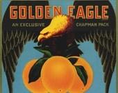 Golden Eagle Valencia Orange Crate label