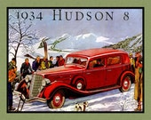 1934 Hudson Vintage Car Refrigerator Magnet