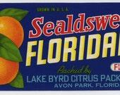 FLORIDAINTY Florida citrus crate label, Avon Park