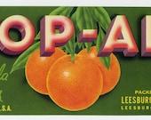 TOP-ALL Florida citrus crate label, Leesburg