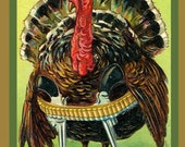 Christmas Turkey with Guns Refrigerator Magnet