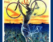 French Bicycle Ad Refrigerator Magnet - FREE US SHIPPING