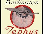 Burlington Zephyr Steam Train Refrigerator Magnet
