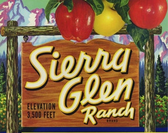 Sierra Glen Apple crate label