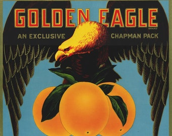 Golden Eagle Valencia Orange Crate label