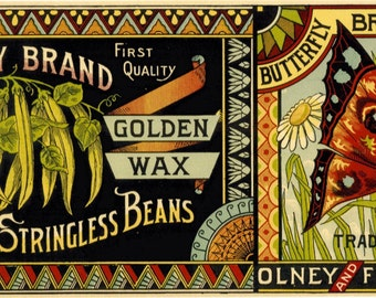 Butterfly Brand Stringless Beans can label