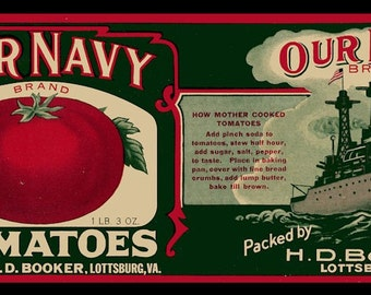 Large Our Navy Tomatoes Refrigerator Magnet - FREE US SHIPPING