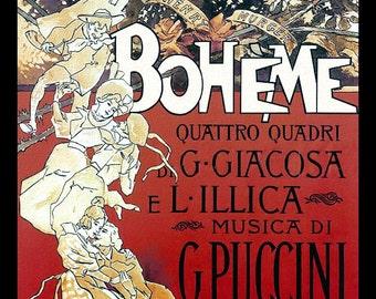 La Boheme Opera Vintage Poster Refrigerator Magnet   - FREE US SHIPPING