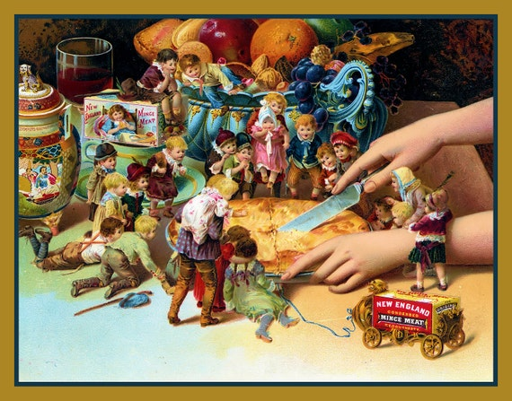 Little People Mincemeat Ad Refrigerator Magnet - FREE US SHIPPING
