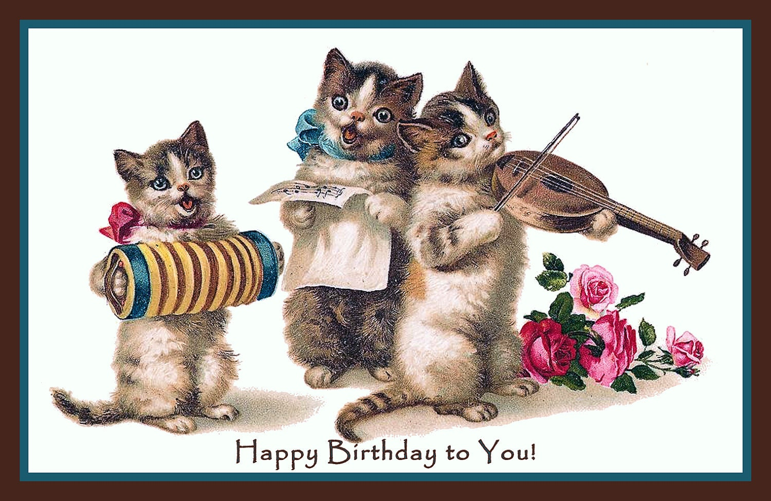 happy birthday images with cats