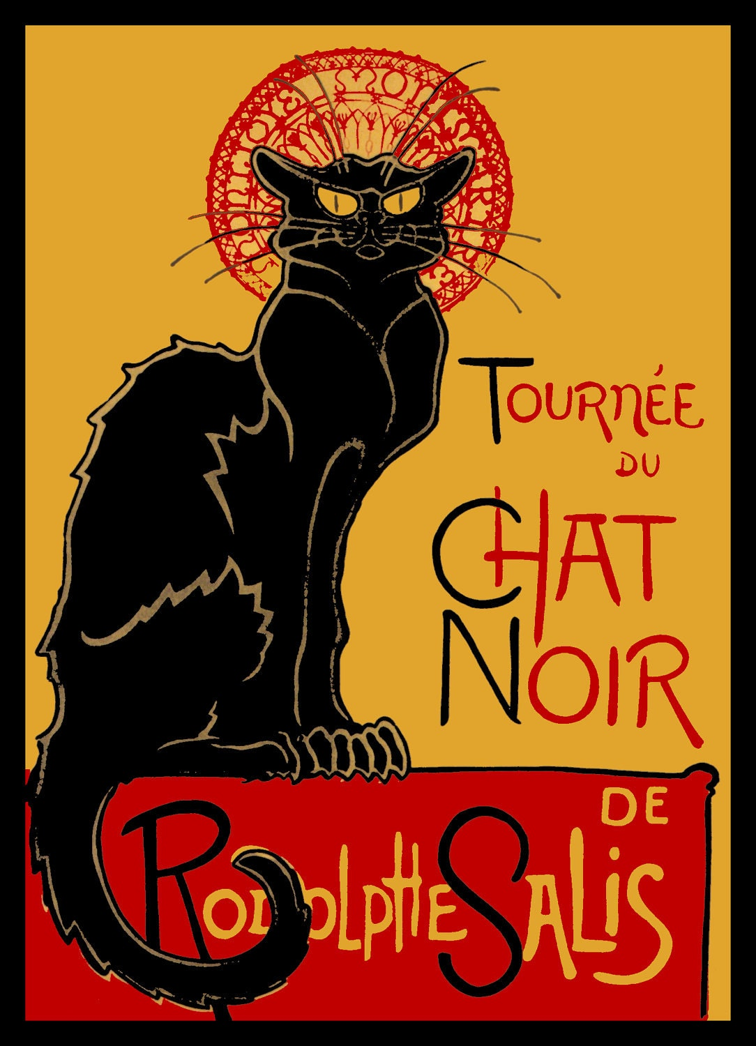 Black Cat Poster French