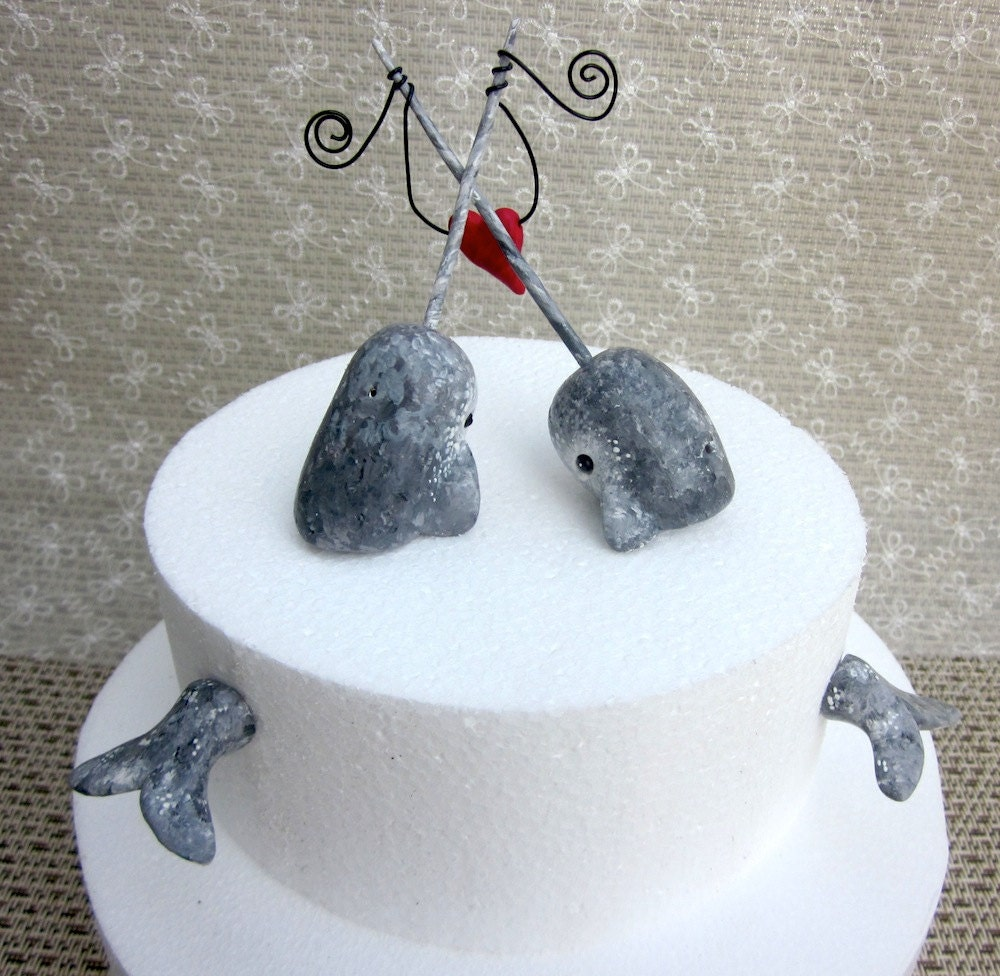 Narwhal Wedding Cake Topper