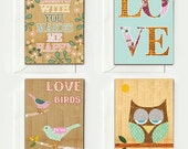 Set of 8 vintage Love Cards