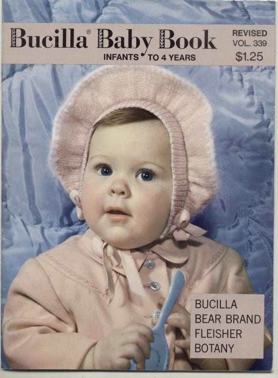 1950  Bucilla Baby Book Knitting Patterns Sweaters, Blankets, Hats, Booties and More