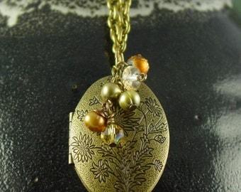 Ella's Brass Locket Necklace