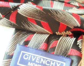 Art Deco Fire Vintage Givenchy Necktie