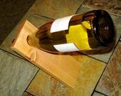 Distressed Pine Wine Rest, Honey Brown