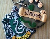 I Love Slytherin, Harry Potter By JK Rowling - Polymer Clay Charm or Pendant