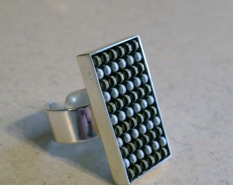 Sterling Silver Recycled Zipper Ring