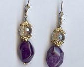 718 Amethyst and Crystal Earrings
