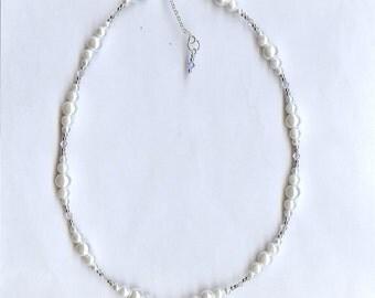 1152 Swarovski Crystal, Glass Pearl Necklace