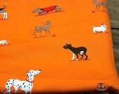 OOP Heather Ross Dogs ( Orange)